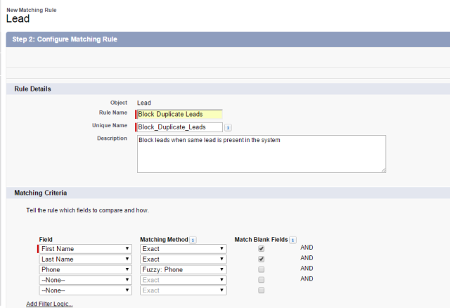 Salesforce com - Duplicate record management - GetTheKT